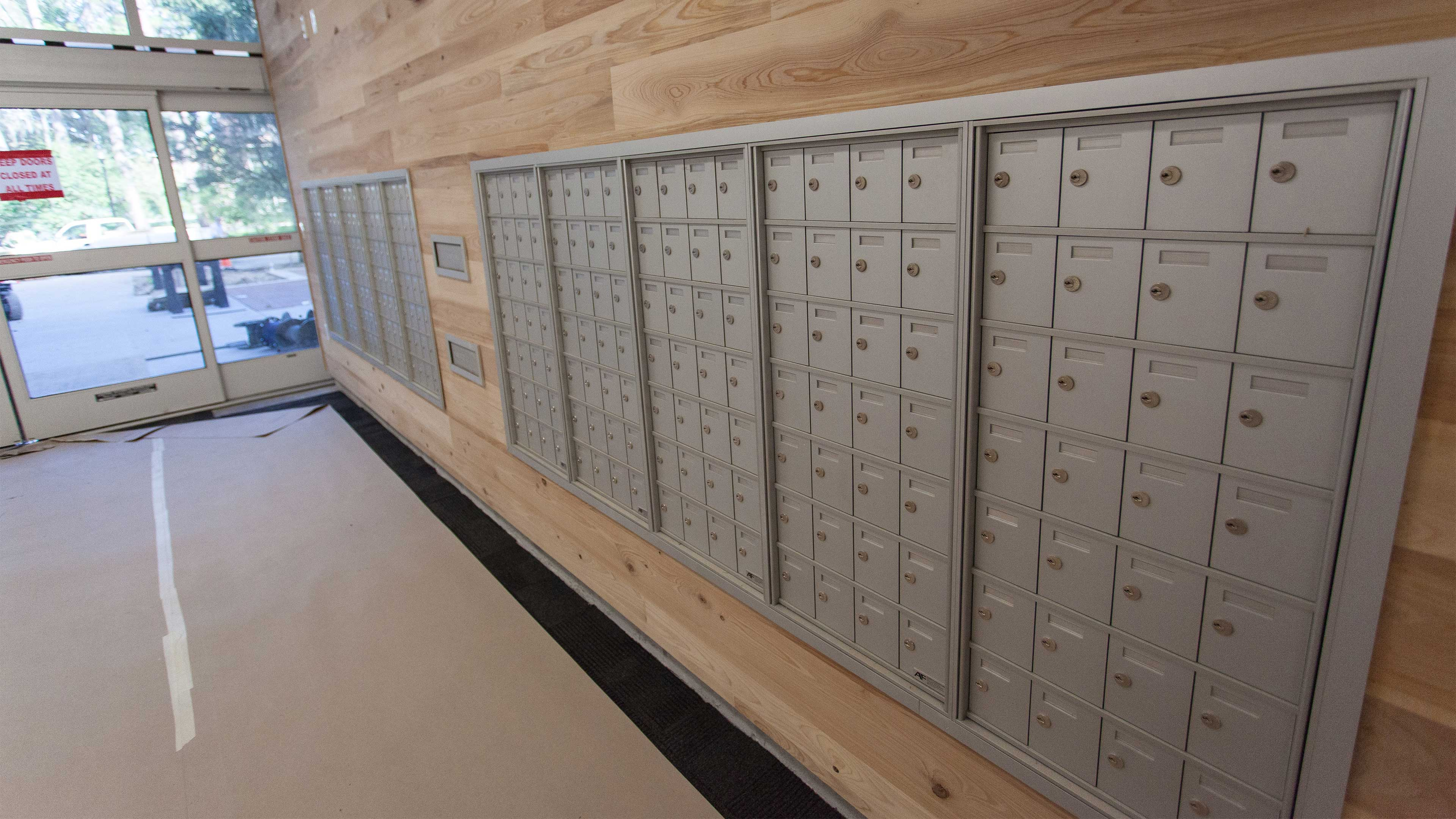 Residence hall mailboxes