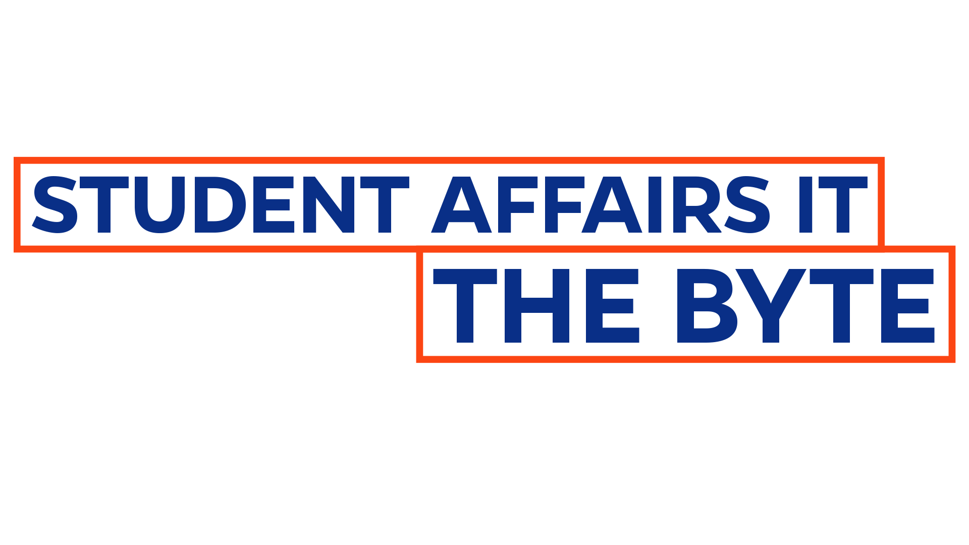 Image showing the logo for the Student Affairs IT Newsletter called the Byte